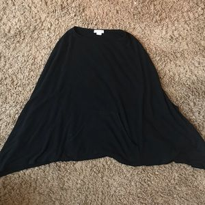 Black poncho sweater
